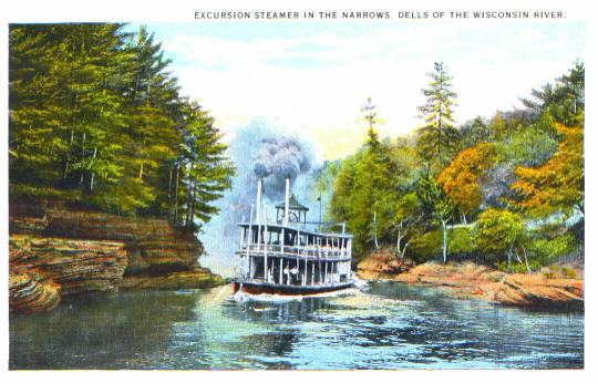 Steamer in the Dells Narrows
